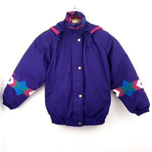 London Fog Vintage Purple Navajo Tribal Ski Jacket